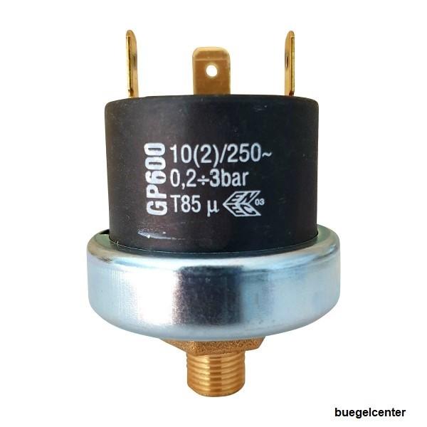 """Mater Druckschalter GP600 G1/8"""", 0,2-3,0bar einstellbar, Voreinstellung 1,0bar"""