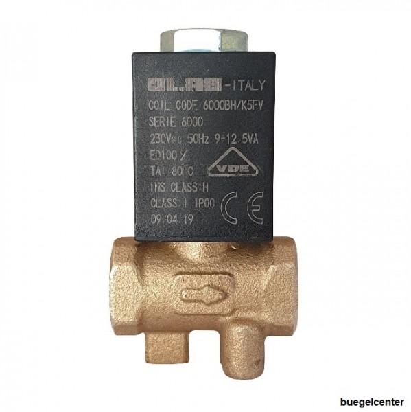 OLAB 6000-9000 Magnetventil 1/8 2/2 Wege 230V/50Hz - 24V für Dampfstationen