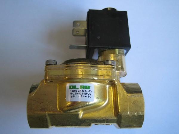 """Olab Magnetventil Messing 1/2"""" 230V-12V-24V 0,1-15bar stromlos geöffnet*Medien:Wasser,Öl,Luft"""