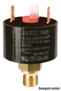 """CEME 5411 Druckschalter G1/8"""", 0,2-6,0bar einstellbar, Voreinstellung 2,7bar"""