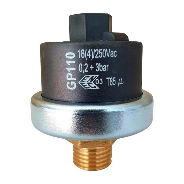 """Mater Druckschalter GP110 G1/4"""", 0,2-3,0bar einstellbar, Voreinstellung 1,3bar"""