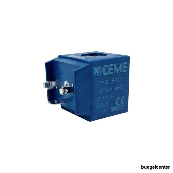 CEME Magnetspule BA2 24V/AC 50Hz Kernloch 13,2mm für Serie 61, 62, 65-67, 69, 86, 87