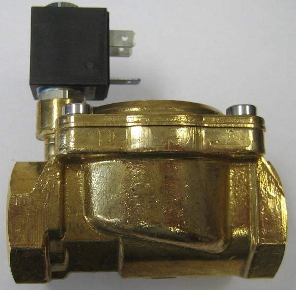 """OLAB Magnetventil Messing 3/4"""" 230V-12V-24V 0,1-15bar stromlos offen* Medien: Wasser, Öl, Luft"""