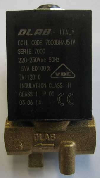 "OLAB 7000 2/2 Wege Magnetventil 1/8"" 230V 15VA oder 21VA oder 24V/AC - 24V/DC"