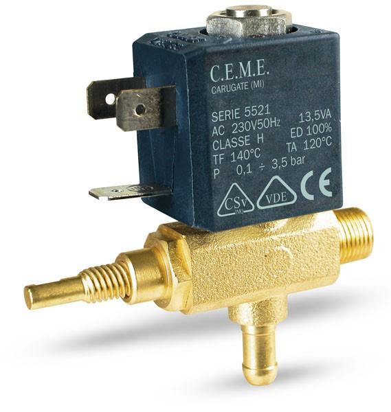 OLAB 6000-9000 Magnetventil oder CEME 5521 Magnetventil mit Dampfregulierung 12V - 24V - 230V
