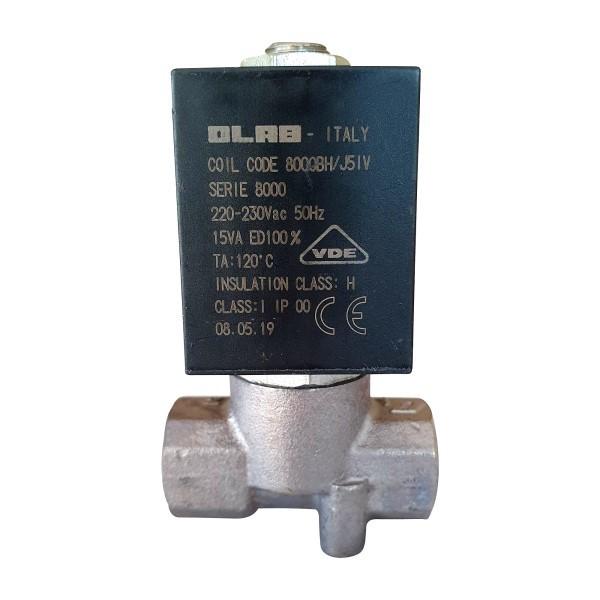 OLAB 8000 Magnetventil 230V oder 24V/AC für Wassermann Dampfstrahler Wasi-Steam Classic