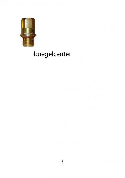 Sicherheitsventil bis 5,5bar 3/8 Zoll passt auch für Kärcher Bügelstation 1801 BSX oder 1/2 Zoll